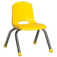 Stackable Yellow Plastic Chair ELR-0192-YE | Bizchair.com