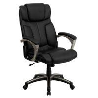 Black High Back Leather Chair BT-9875H-GG   Bizchair.com