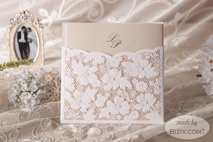 Personalized classic wedding invitations vintage style-Biziv