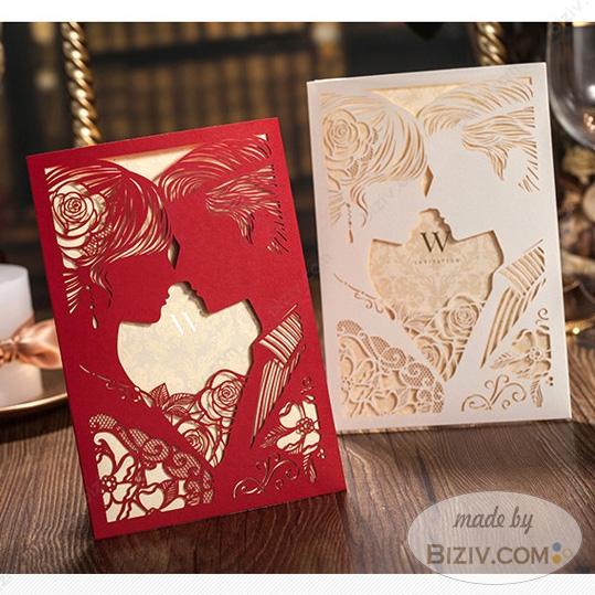 Elegant printable wedding invitation cards creative design-Biziv
