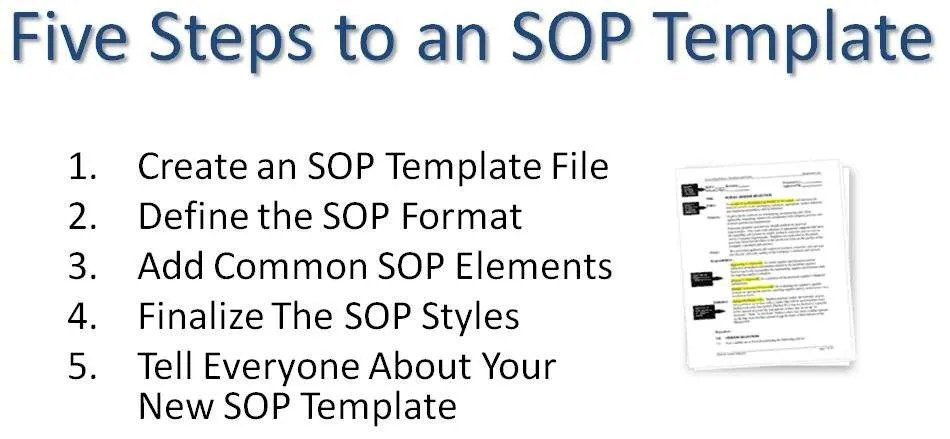 Sop Format Template - FREE DOWNLOAD
