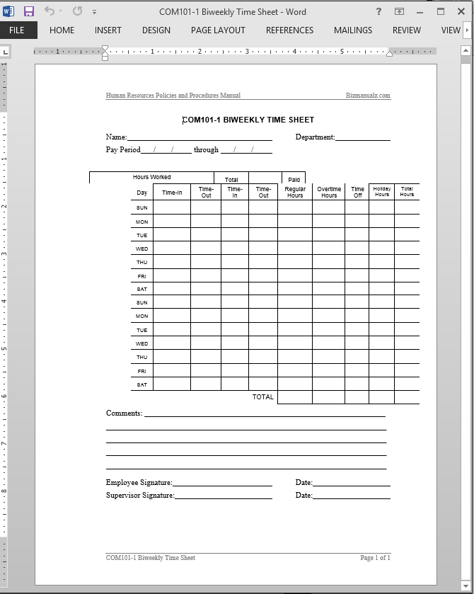 employees time sheets