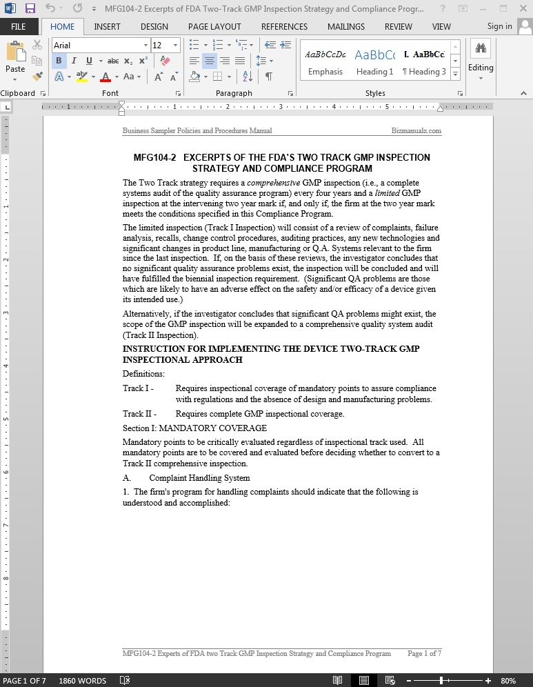 Compliance Manual Template Treating Customers Fairly Policy - compliance manual template