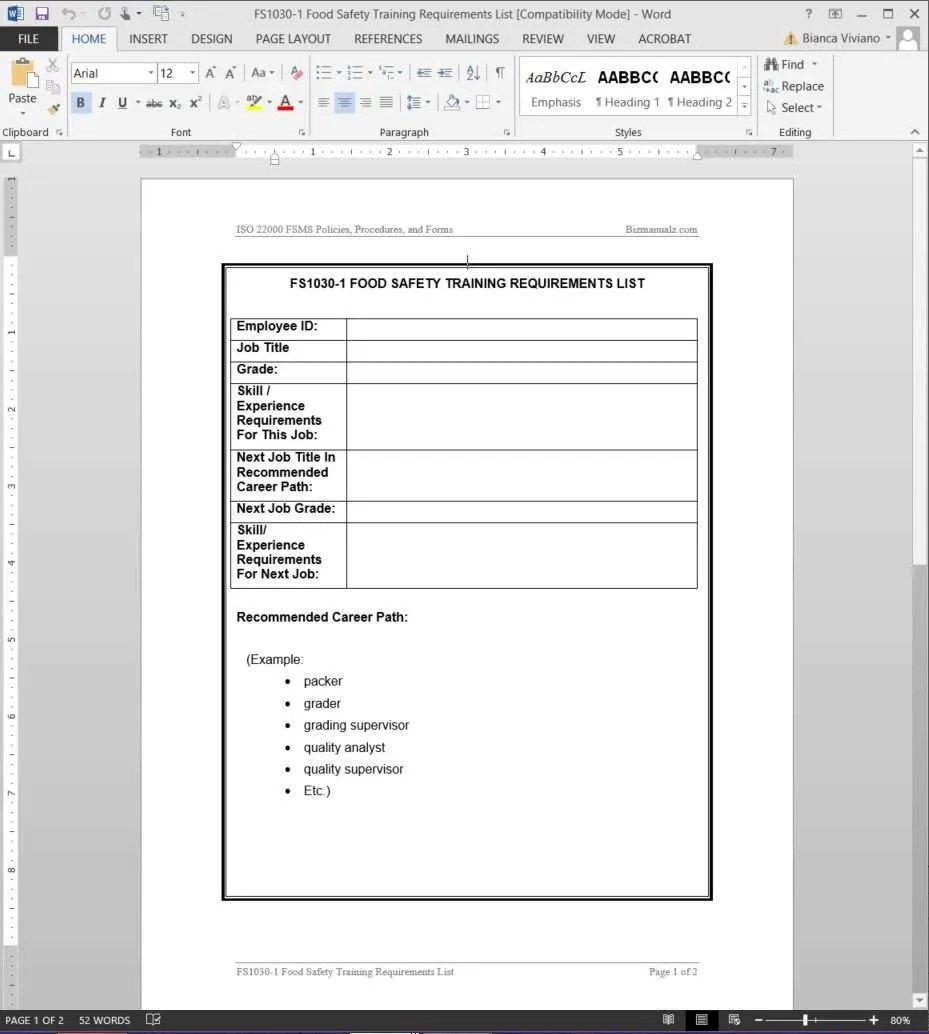 software manual template – Product Manual Template