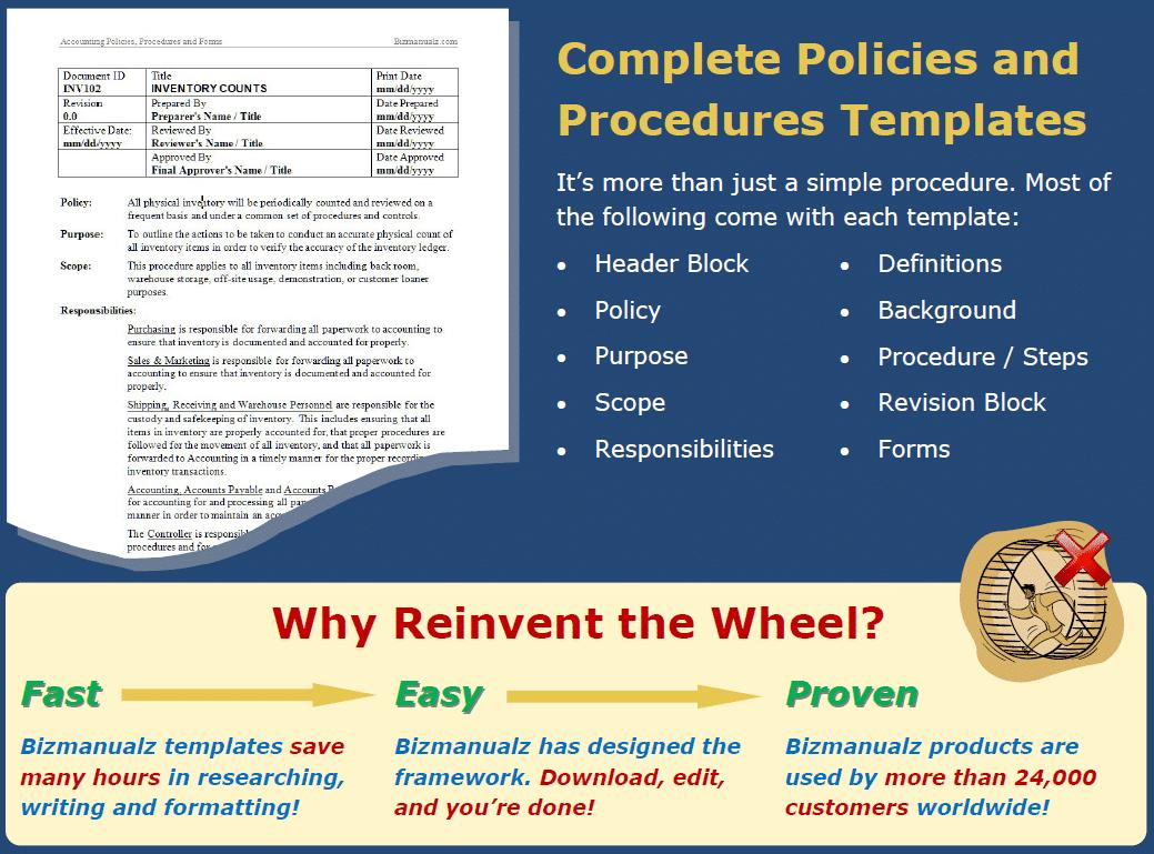 financial policies and procedures template costumepartyrun