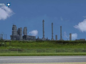 An artist's impression of what Sasol's $21bn plant will look like