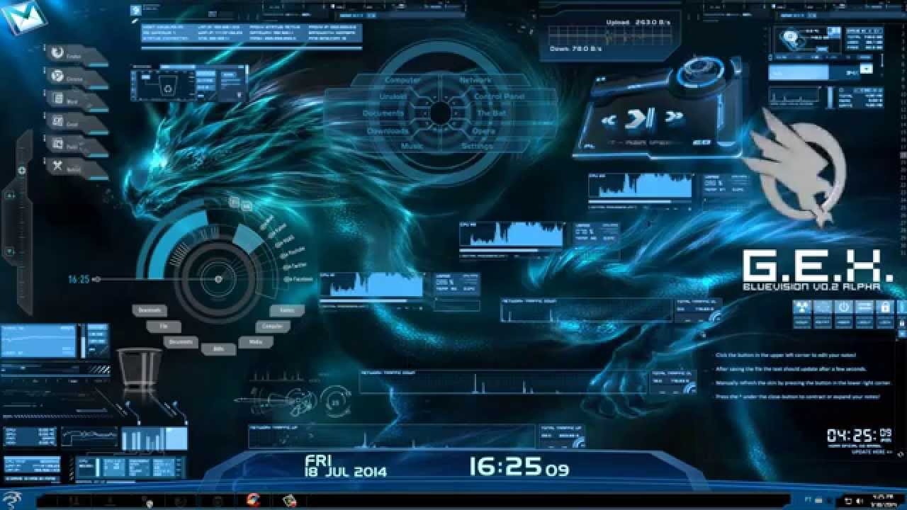 Animated Wallpaper For Laptop Windows 7 50 Best Rainmeter Skins Amp Themes Of 2018 With Download