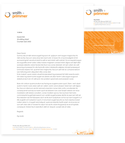 Stationery Letterhead Business Card Design Examples