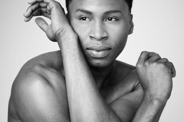 Alvin Ailey American Dance Theater's Jeroboam Bozeman.  Photo by Andrew Eccles