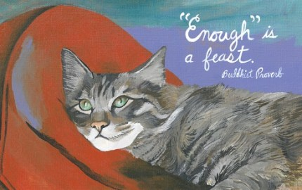 Harriet Faith, Art, Illustration, Pay Attention To Your Dreams, Quotes, Inspiration, Motivation, Dreams, Hand Lettering, Drawing, Painting, Buddhist Proverb, Thanksgiving, Gratitude, Feast, Cat Portrait, Pet Portrait