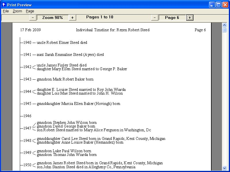 Brothers Keeper Genealogy Program Sample Reports - sample reports