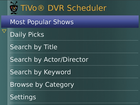 TiVo for BlackBerry