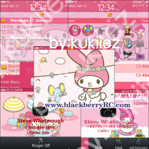 Cute Wallpapers For Blackberry Curve 8520 My Melody Blackberry Themes Free Download Blackberry Apps
