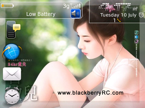 Beautiful Cartoon Girl Wallpaper Beautiful Girl Os7 Icons For Bb 89xx 96xx 9700 Themes
