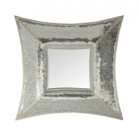 Curved Square Silver Mosaic Wall Mirror - Blackbrook Interiors