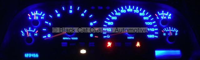 Black Cat Custom Automotive - Dodge Dakota Gauge Faces - LED