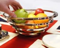 Langton Avenue Circular stainless steel fruit bowl ...