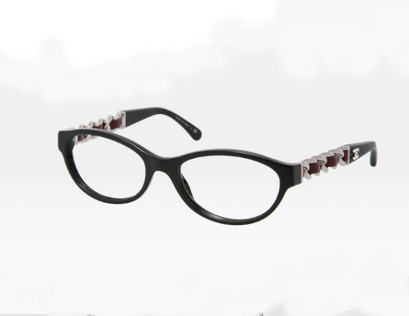 """UNDERTONES: All people have either cool (blue-based) or warm (yellow-based) coloring,"""" Miller-Johnson says. Eyewear color should complement this.   Style Nod: """"Chanel is both bold and sophisticated with a streak of trendy and a vintage feel."""" These Chanel frames feature interlaced, lambskin chain detailing.  Check Chanel.com for availability."""