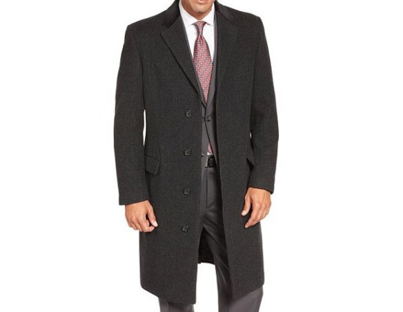 Lauren by Ralph Lauren Charcoal Texture Chesterfield Topcoat, $220  You can never go wrong with a classic wool chesterfield topcoat. No matter the field or the suit, this coat will complement both well.