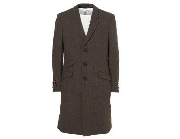 Top Man Topcoat, $400  Known for their affordable youthful reinterpretations of English fashion staples, Top Man has hit the nail on the head with this tweed topcoat with football buttons and a ticket pocket.