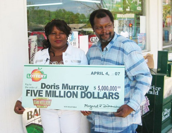 The UGLYDoris Murray won 5 million dollars in the Georgia Lottery in 2008.  She was not around long enough to spend it, however.  Nearly a year after the win she was killed in her home by her ex-boyfriend Derrick Stanley.