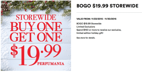 Perfumania Black Friday 2015 Flyer - Page 1