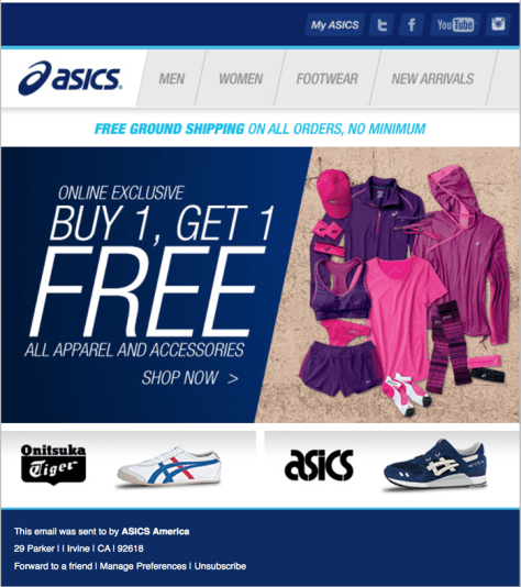asics black friday ad scan - page 1