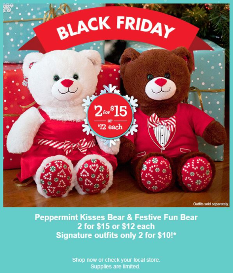 Build a Bear black friday ad scan - page 1