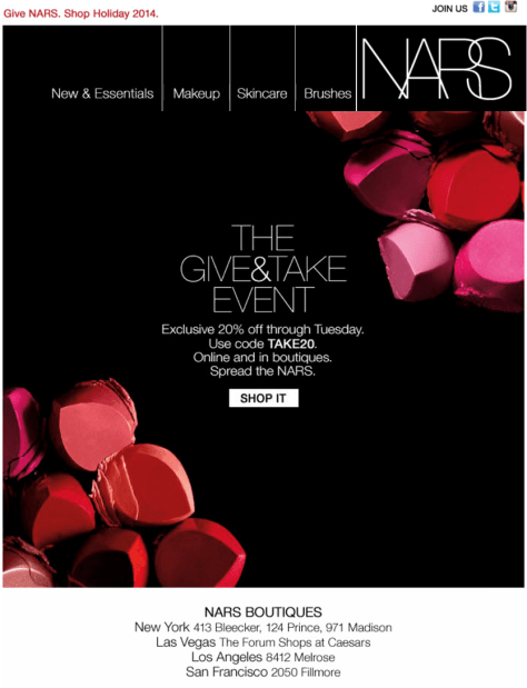 Nars black friday ad scan - page 1
