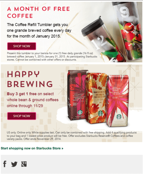 Starbucks black friday ad scan - page 2