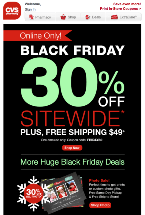 cvs black friday ad scan - page 1