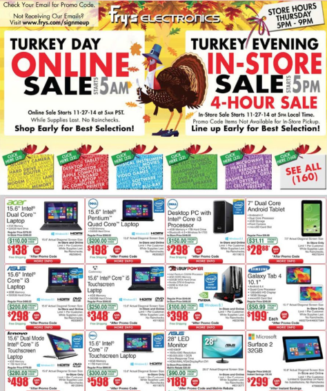 frys black friday ad scan - page 1