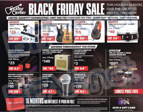 guitar center black friday ad scan - page 4