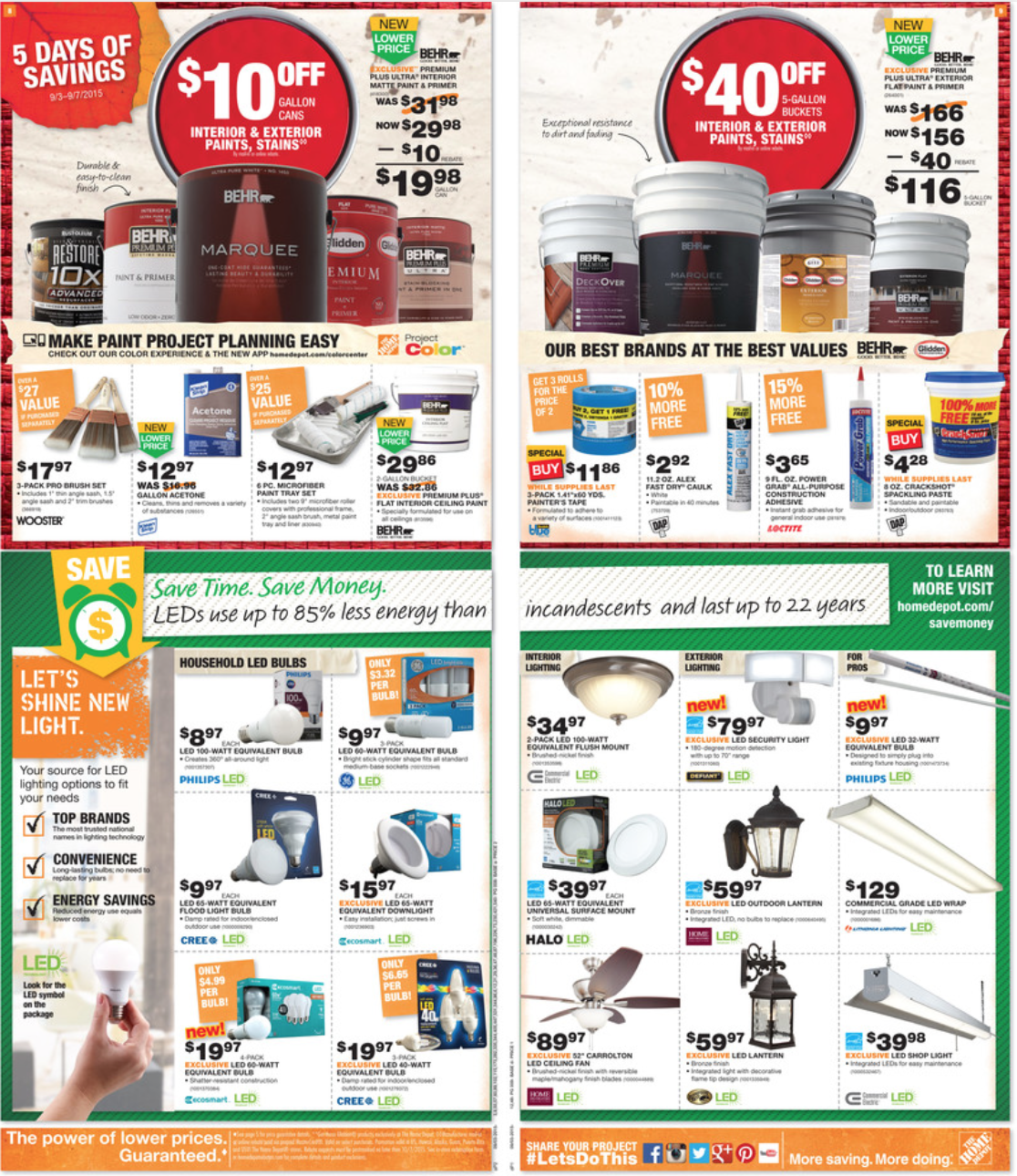 Home Depot Labor Day 2016 Sale Ad Mailer Amp Coupons