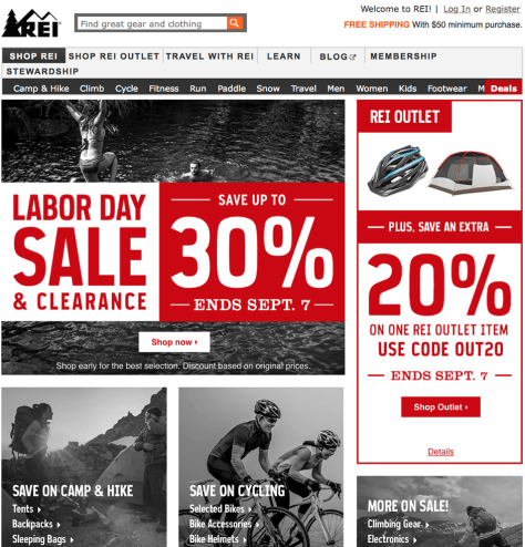 REI Labor Day Sale 2015 - Page 1