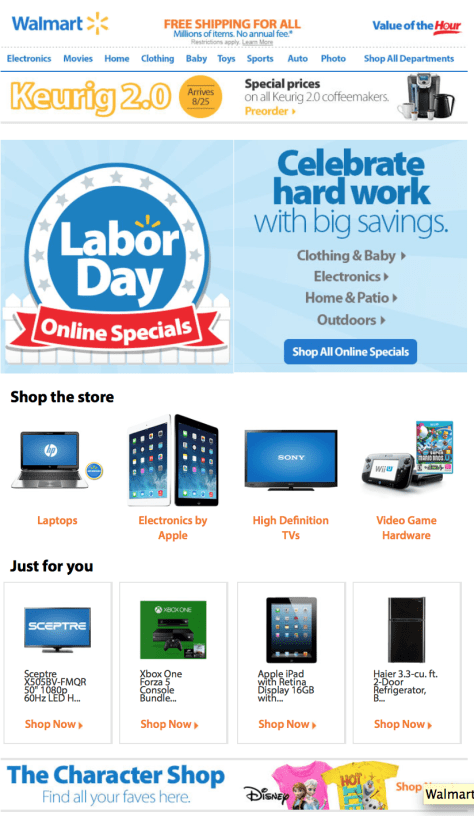 Walmart Labor Day Sale - Page 1