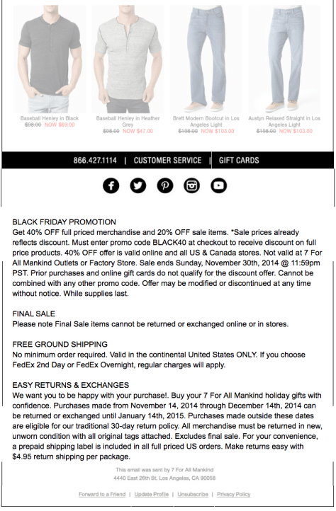 7 for all mankind Black Friday Ad - Page 2