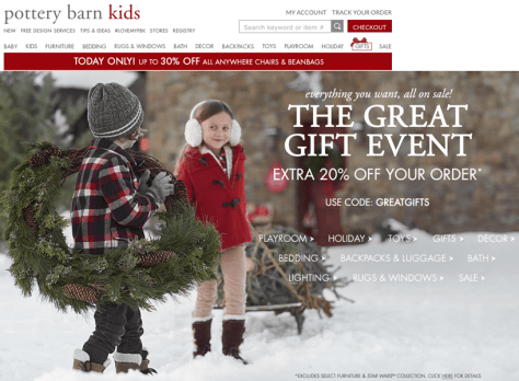 Pottery Barn Kids Black Friday 2015 Ad - Page 1