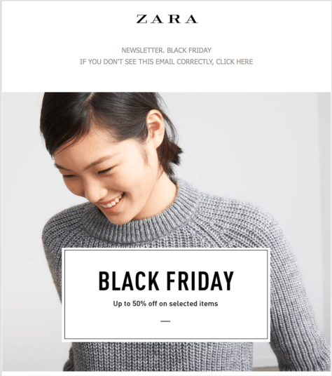 Zara Black Friday Ad - Page 1