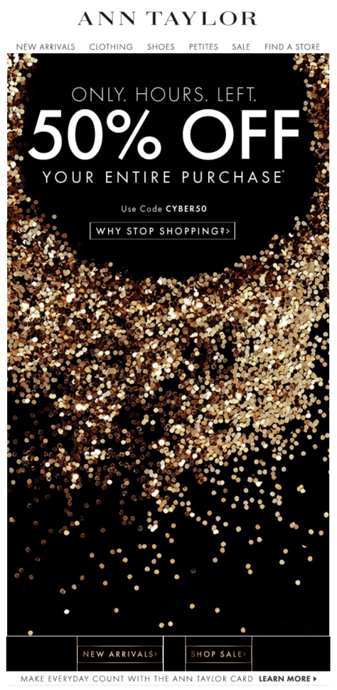 Ann Taylor Cyber Monday Ad - Page 1