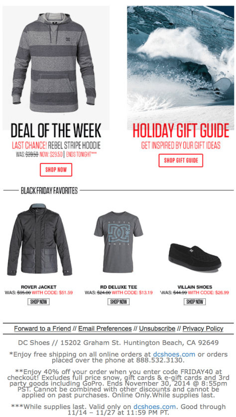 DC Shoes Black Friday Ad - Page 2