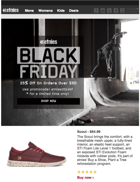 Etnies Black Friday Ad - Page 1