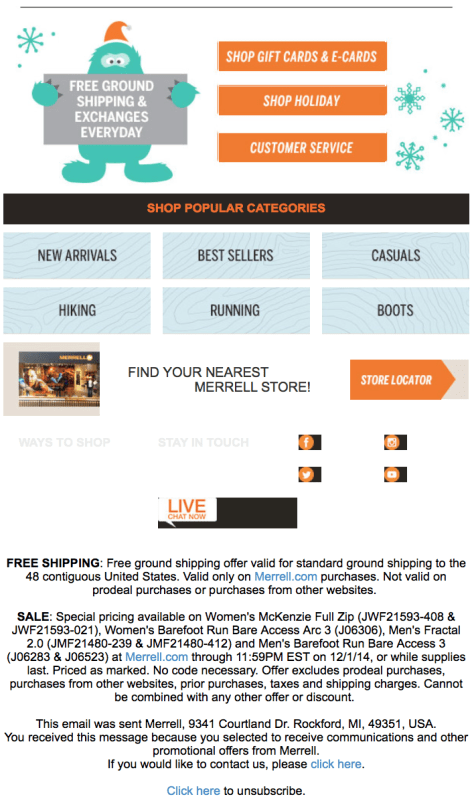Merrell Black Friday Ad Scan - Page 2