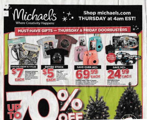 Michaels Black Friday Ad 2015 - Page 1