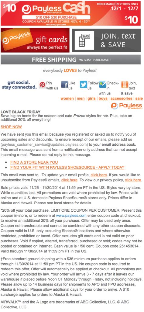 Payless Shoes Black Friday Ad - Page 3