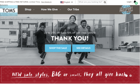 Toms Cyber Monday 2015 Ad - Page 1