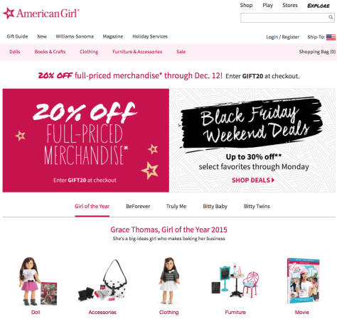 American Girl Black Friday 2015 Ad - Page 1