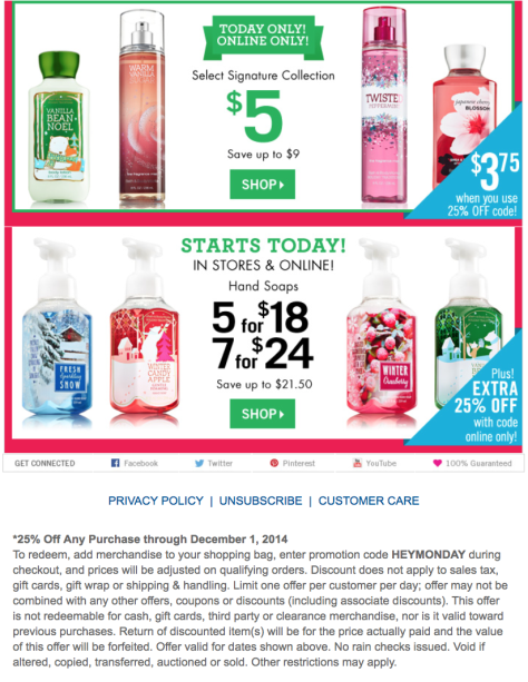 Bath and Body Works Cyber Monday Ad - Page 2