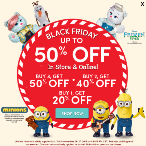 Build a Bear Black Friday 2015 Flyer - Page 1