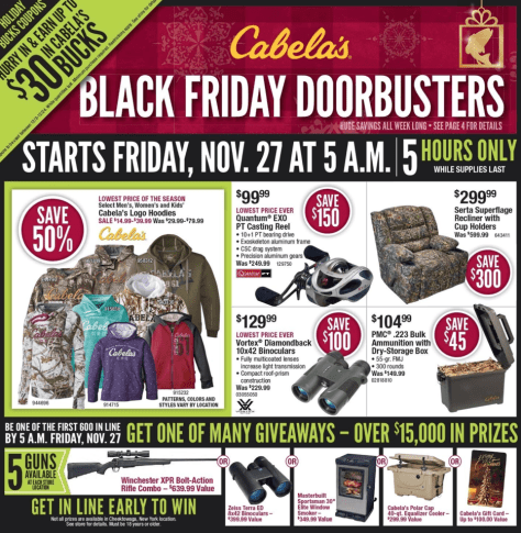 Cabelas Black Friday 2015 Ad - Page 1